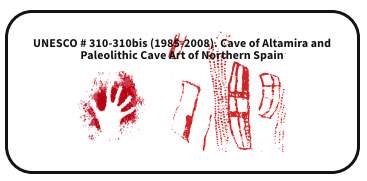UNESCO # 310-310bis (1985-2008). Cave of Altamira and Paleolithic Cave Art of Northern Spain