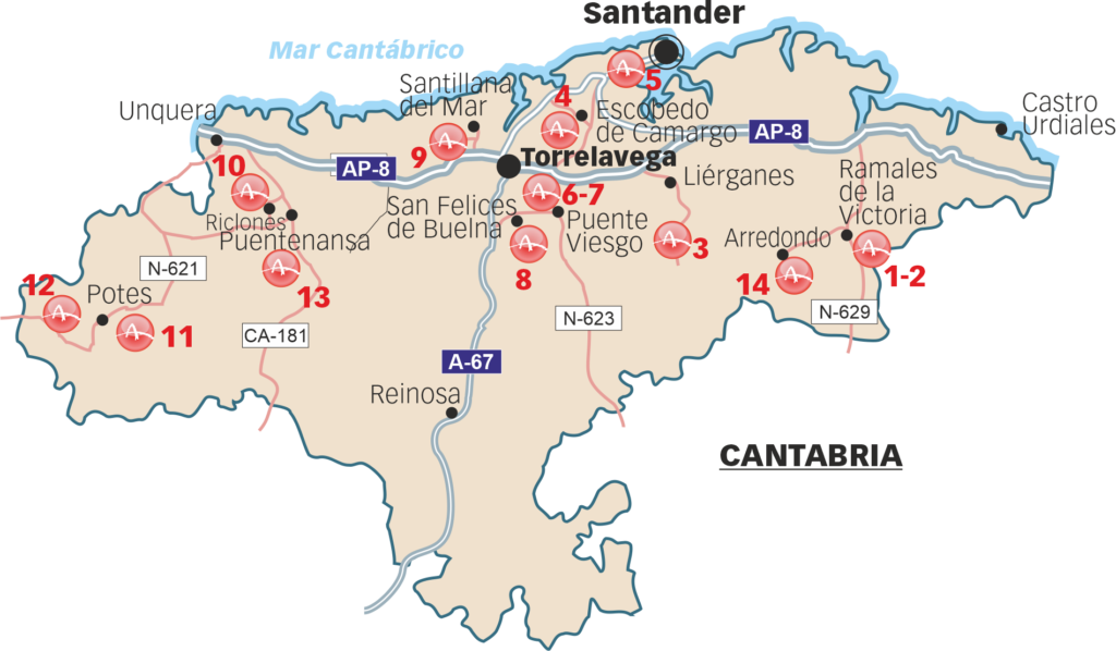 Sites that can be visited in Cantabria